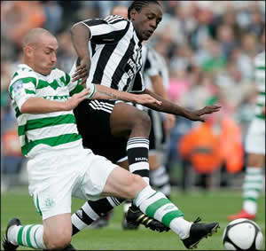 Nile Ranger in action yesterday.