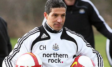 Chris Hughton: Showing his balls.