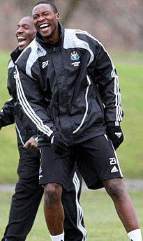 Ameobi: Back in the picture.