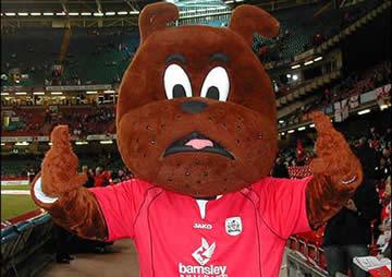 Barnsley FC's mascot, Toby Tyke