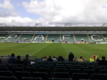 Plymouth Argyle's Home Park Stadium.