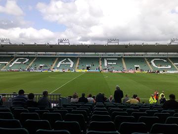 Plymouth Argyle's Home Park Stadium.