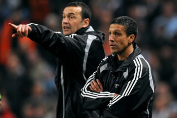 Hughton and his trusty sidekick, Calderwood.