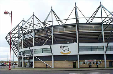 Pride Park: The home of Derby County.