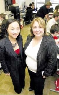 SIPP Broker Ltd's Lynn Steele (right).