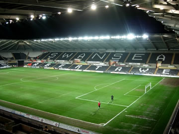 Your destination - Swansea City's Liberty Stadium.