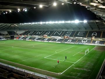 Your destination - Swansea City's Liberty Stadium.