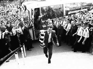 Bob Moncur - The last Newcastle captain to lift real silverware.