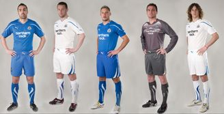 The new away and change strip for 10/11.