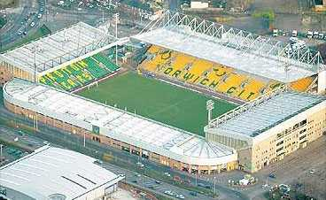 Carrow Road - The home of Norwich City.