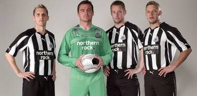 Newcastle Utd home shirt 10/11.