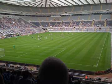 The view from the Gallowgate end.