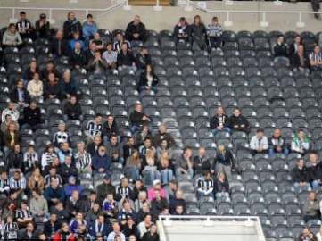 St James' Park empty.