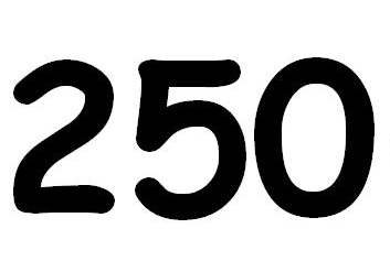Will we hit the 250 today?