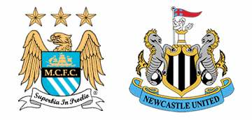 Manchester City v Newcastle United 2011 match banter.
