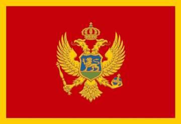 The Montenegro flag.