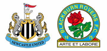 Newcastle United vs Blackburn Rovers.