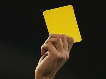 The yellow card - A familiar sight this season.
