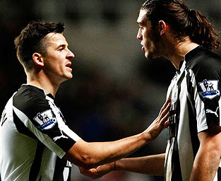 Joey Barton and Andy Carroll, Newcastle United