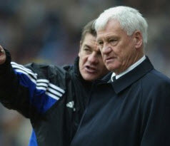 John Carver and Bobby Robson