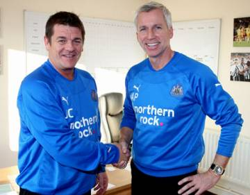 Alan Pardew welcomes John Carver back to the club.