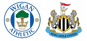 Wigan Athletic v Newcastle United.