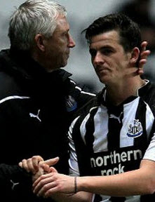Alan Pardew and Joey Barton, Newcastle United