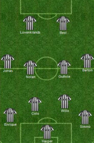 Newcastle United formation
