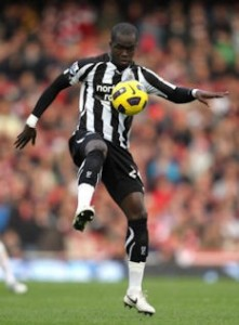 Cheik Tiote, Newcastle United, gets a record 14 cards in a season.