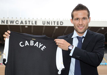 Cabaye demonstrated his abilities and ruined the turf.