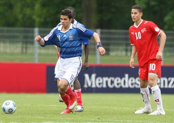 Mehdi Abeid in training with France U18s.