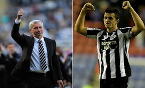 Alan Pardew says he alone will decide whether Barton plays against Arsenal.