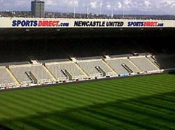 New East Stand sign, St James' Park.