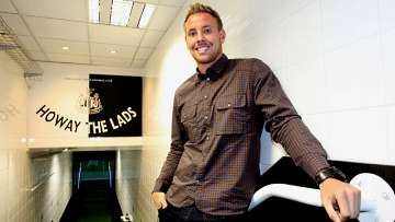 Rob Elliot at St James&#039; Park.