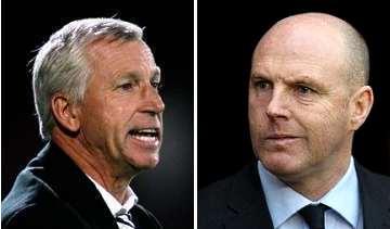 Alan Pardew and Steve Kean: Old friends