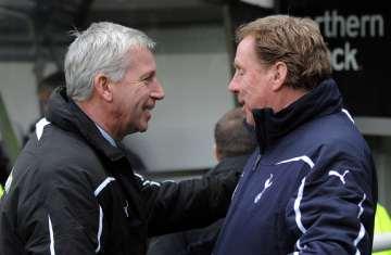 Alan Pardew and Harry Redknapp.