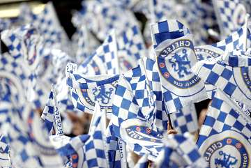 Chelsea flags.