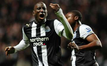 Demba Ba: Scored twice, but it wasn't enough.