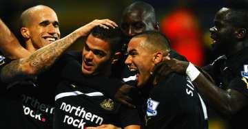 Hatem Ben Arfa scores for Newcastle.