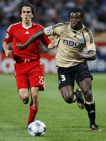 Taye Taiwo in action