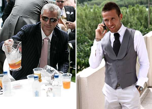 Alan Pardew and Yohan Cabaye.