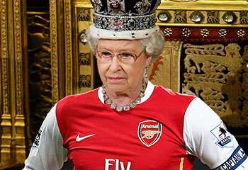 The Queen - Arsenal supporter.