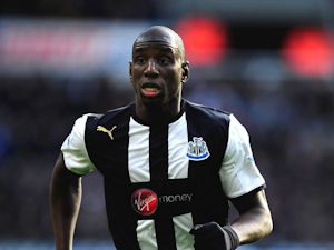 Demba Ba indicates he is not particularly unhappy with his role on the left of a front three.