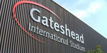 Gateshead International Stadium.