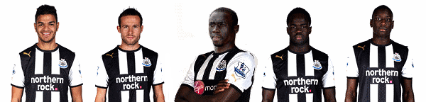 Newcastle United players.