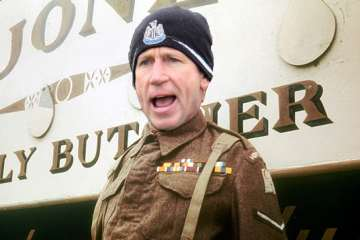 "Alan Pardew as Corporal Jones in ""Dad's Army."""