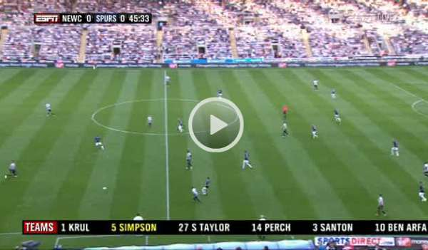 Newcastle United v Tottenham full match video (opens in new window).
