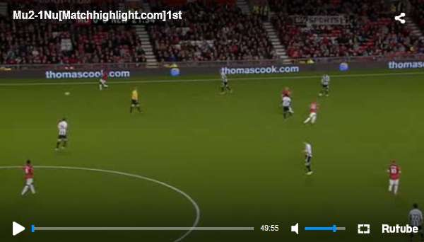 Manchester United vs Newcastle United full match video.