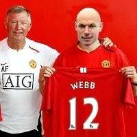 Manchester United's Howard Webb.