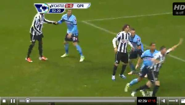 Newcastle United v QPR full match video.